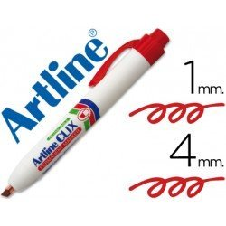 Rotulador Permanente Artline Clix rojo 4mm