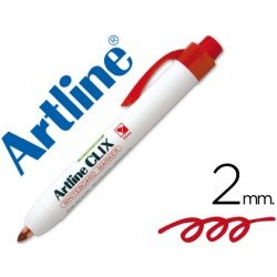 Rotulador Artline Clix rojo 2mm