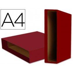 Caja archivador de palanca Liderpapel Din A4 Color System Rojo