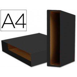 Caja archivador de palanca Liderpapel Din A4 Color System Negro