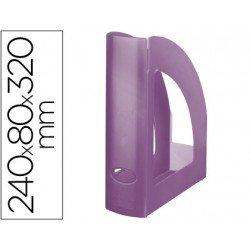 Revistero plastico Liderpapel violeta