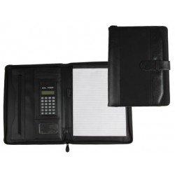 Portadocumentos Carpeta Csp Negro A4 con calculadora