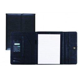 Portadocumentos Carpeta Csp Negro con calculadora Cierre con Imán