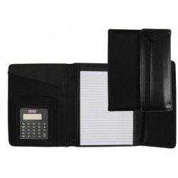 Portadocumentos Carpeta Csp Negro A5 con calculadora