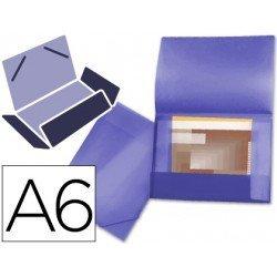 Carpeta lomo flexible con solapas Liderpapel Din A6 violeta