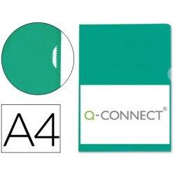 Funda dossier uñero plastico Q-Connect Din A4 verde
