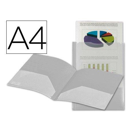 Carpeta dossier con doble bolsa Liderpapel Din A4 incoloro