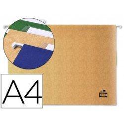 Carpetas colgantes Liderpapel A4 visor superior. Carton KRAFT