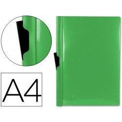 Carpeta dossier con pinza lateral Liderpapel 60 hojas Din A4 verde
