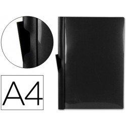 Carpeta dossier con pinza lateral Liderpapel 60 hojas Din A4 negro