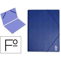 Carpeta gomas Liderpapel Folio PVC azul