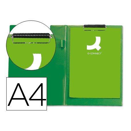 Portanotas plastico miniclip superior Q-Connect verde