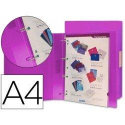 Carpeta de 4 anillas Beautone polipropileno lomo 40 mm Din A4 violeta