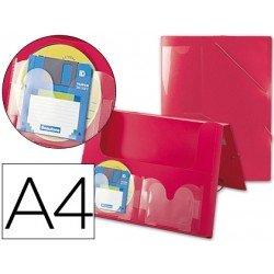 Carpeta lomo rigido gomas portadocumentos Beautone Din A4 rojo
