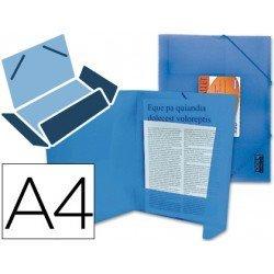 Carpeta lomo flexible solapas Liderpapel Din A4 azul