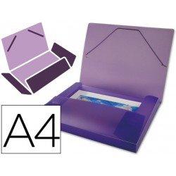 Carpeta lomo rigido gomas portadocumentos Beautone Din A4 violeta