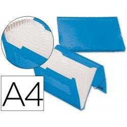 Carpeta clasificadora gomas polipropileno Beautone Din A4 azul