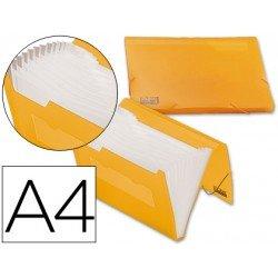Carpeta clasificadora gomas polipropileno Beautone Din A4 naranja
