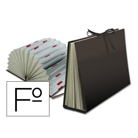 Carpeta clasificadora folio carton Liderpapel negro