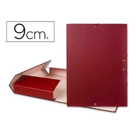 Carpeta de proyectos Liderpapel de carton con gomas Paper Coat lomo 90 mm rojo