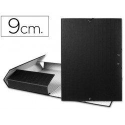 Carpeta de proyectos Liderpapel de carton con gomas Paper Coat lomo 90 mm negro