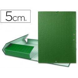 Carpeta de proyectos Liderpapel de carton con gomas Paper Coat lomo 50 mm verde