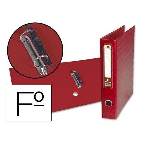 Carpeta anillas carton forrado Liderpapel Paper Coat Documenta lomo 60 mm rojo