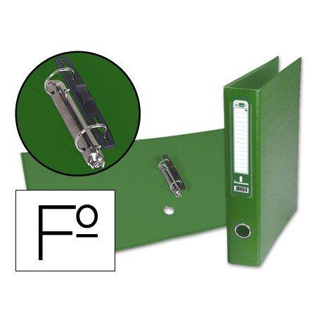Carpeta anillas carton forrado Liderpapel Paper Coat Documenta lomo 60 mm verde