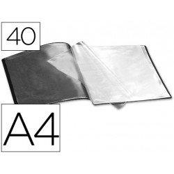 Carpeta escaparate con 40 fundas color negro