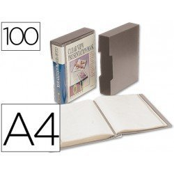 Carpeta escaparate 100 fundas Beautone gris