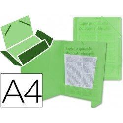 Carpeta lomo flexible solapas Beautone Din A4 verde transparente