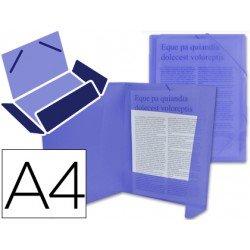 Carpeta lomo flexible con solapas Liderpapel Din A4 azul translucido