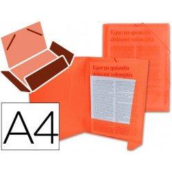 Carpeta lomo flexible con solapas Liderpapel Din A4 rojo translucido