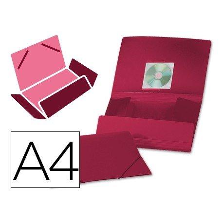 Carpeta lomo flexible con solapas Liderpapel Din A4 roja