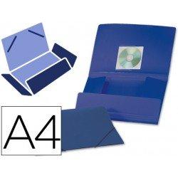 Carpeta lomo flexible con solapas Liderpapel Din A4 azul