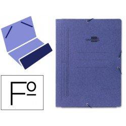 Carpetas de gomas carton Liderpapel folio