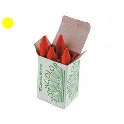Lapices cera Jovi caja de 12 unidades color amarillo claro