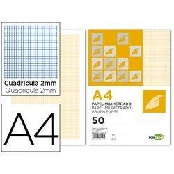 Papel milimetrado Liderpapel Din A4 80g/m2