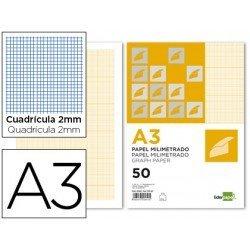 Papel milimetrado Liderpapel Din A3 80g/m2