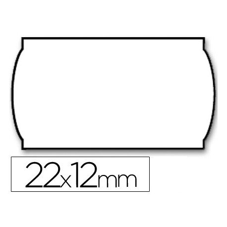 Rollo Etiquetas adhesivas Meto lisa removible 22 x 12