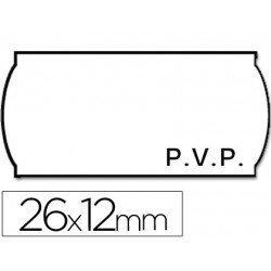 Rollo Etiquetas adhesivas Meto PVP 26 x 12