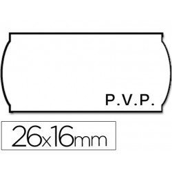 Rollo Etiquetas adhesivas Meto PVP 26 x 16