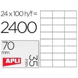 Etiquetas Adhesivas Apli 70 x 35 mm