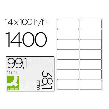 Etiquetas Adhesivas Q-Connect 99,1 x 38,1 mm