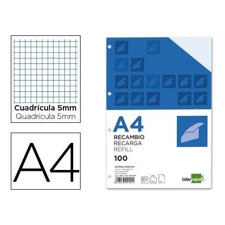 Recambio extrafuerte Liderpapel A4 5mm