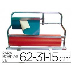 Portarrollos mostrador acero pintado 62-31-15 cm
