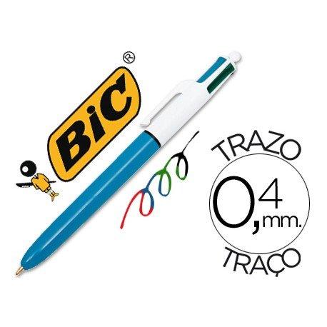 Bolígrafo marca Bic cuatro colores 0,4 mm