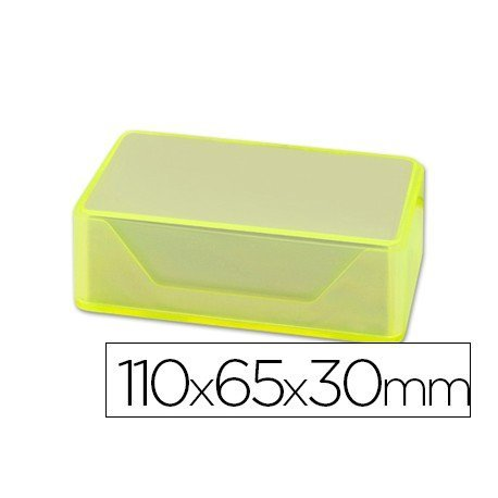 Caja plastico Liderpapel para tarjetas de visitas 110x65x30mm
