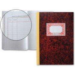 Miquelrius Libro Registro de facturas emitidas, cartone tamaño folio