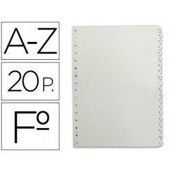 Separadores de plastico Multifin alfabetico Folio